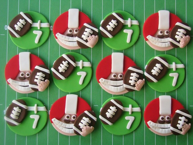 football fondant toppers