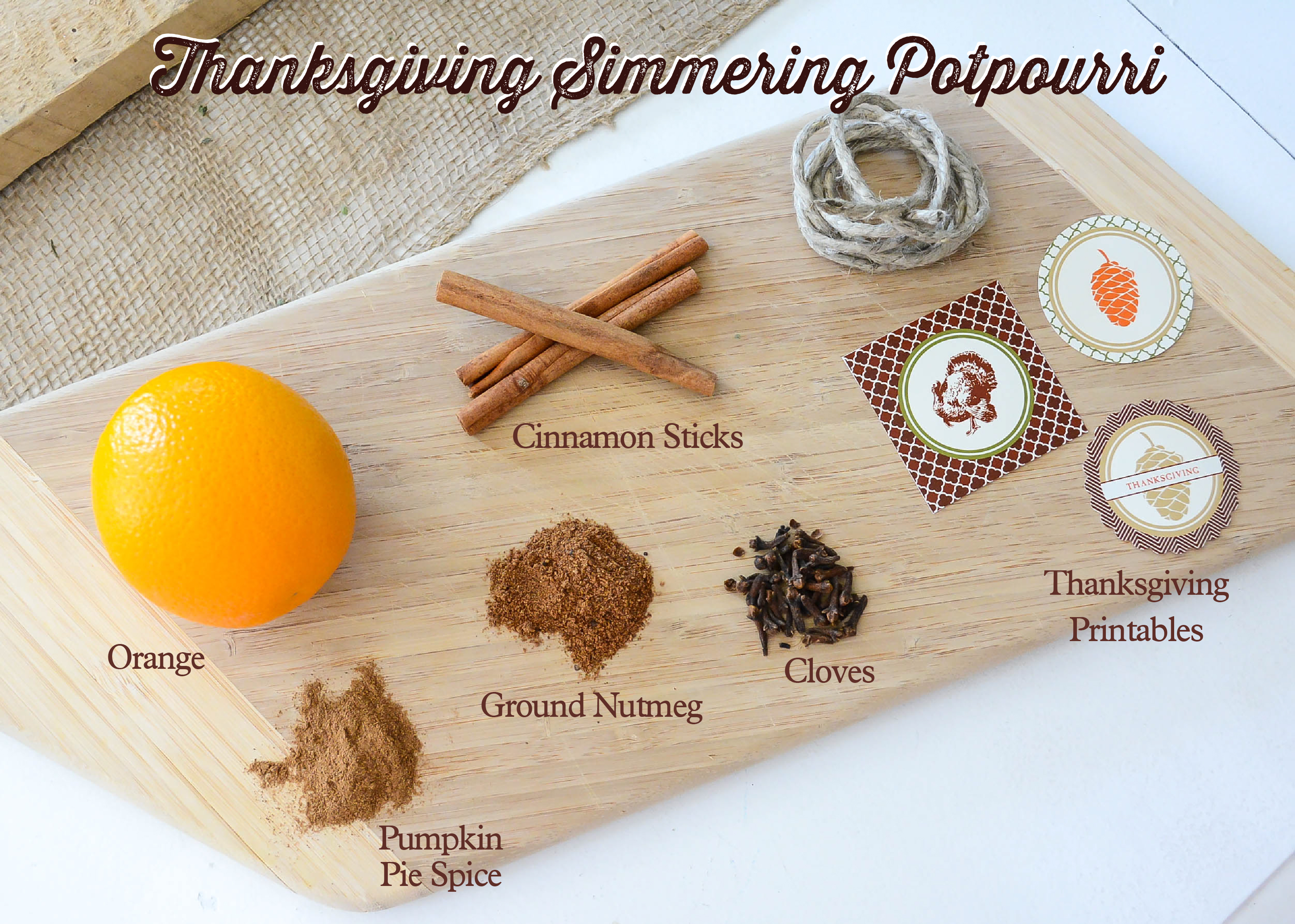 Thanksgiving potpourri spices