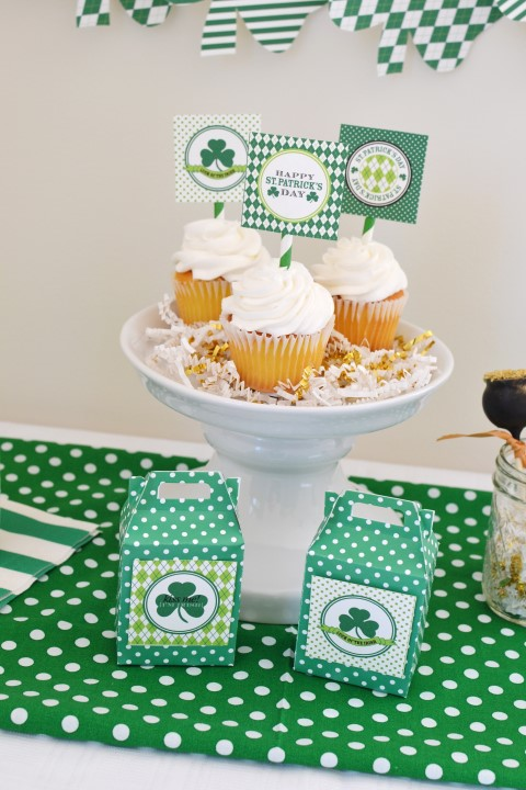 A simply cute St. Patrick's Day Party using Anders Ruff Printables