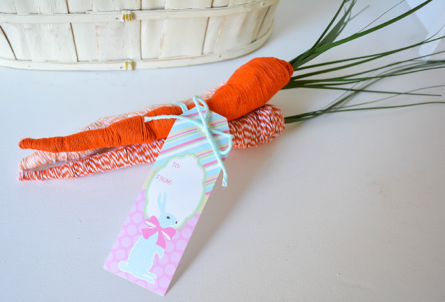 Easter twine wrapped carrots