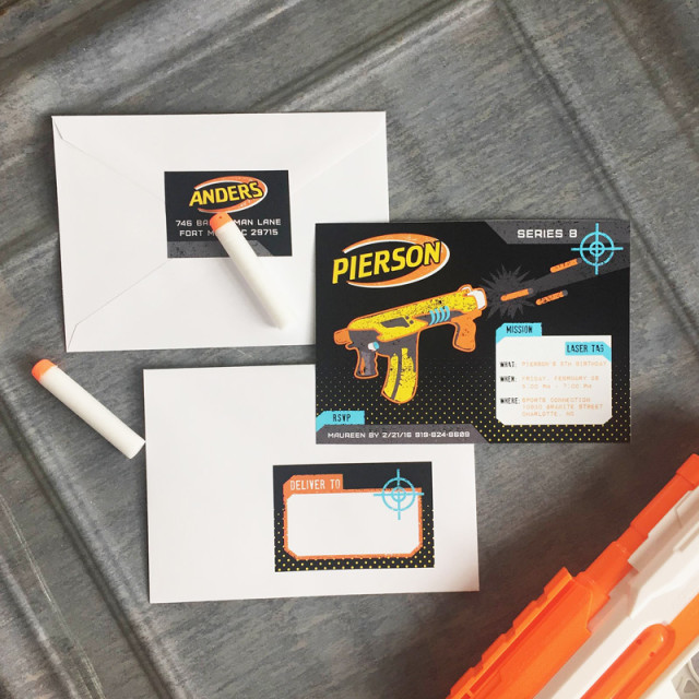 nerf party invitation