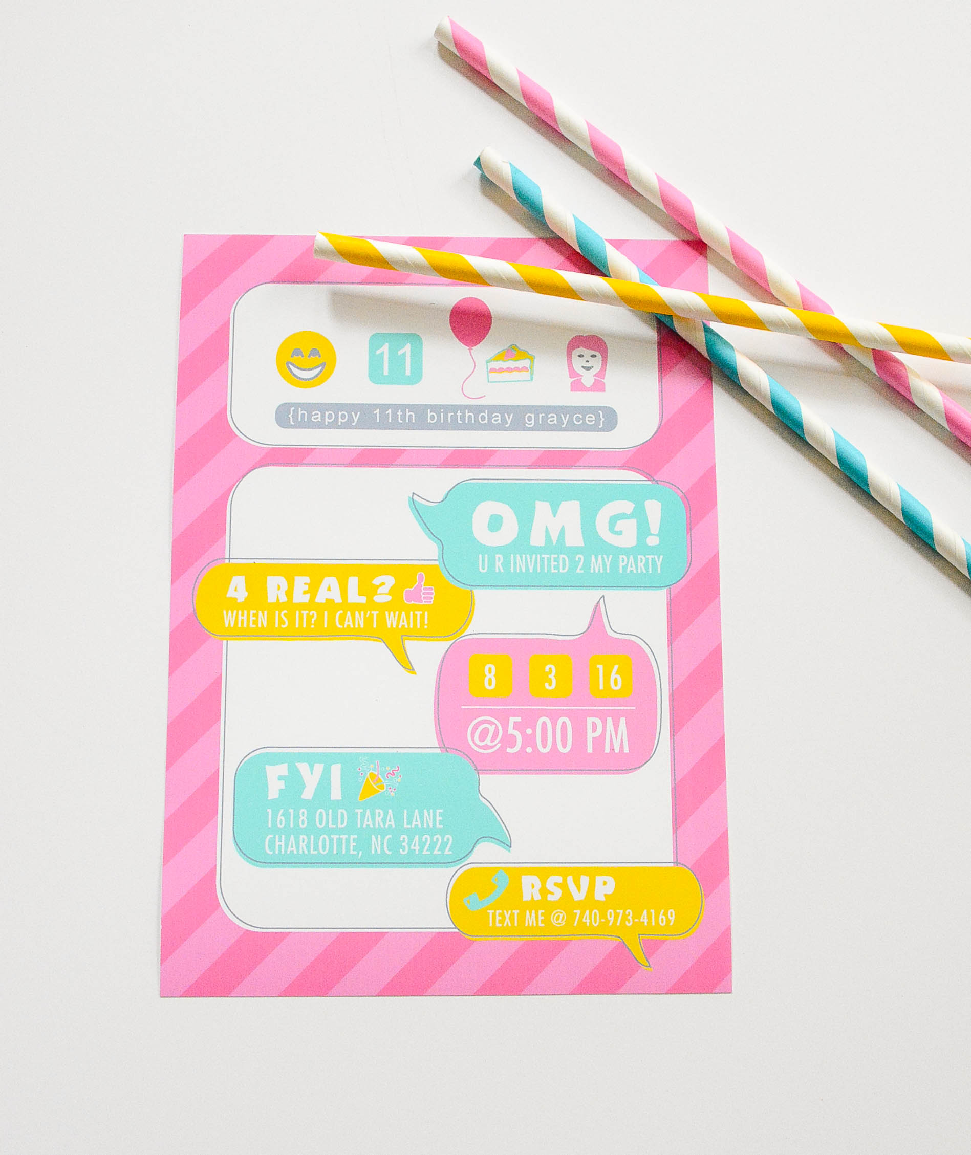 Ruff Draft Social Media Party Planning and NEW Invitation – 11th Birthday Party Invitations