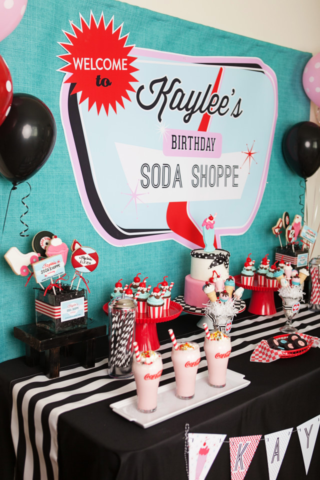 retro soda shoppe birthday party