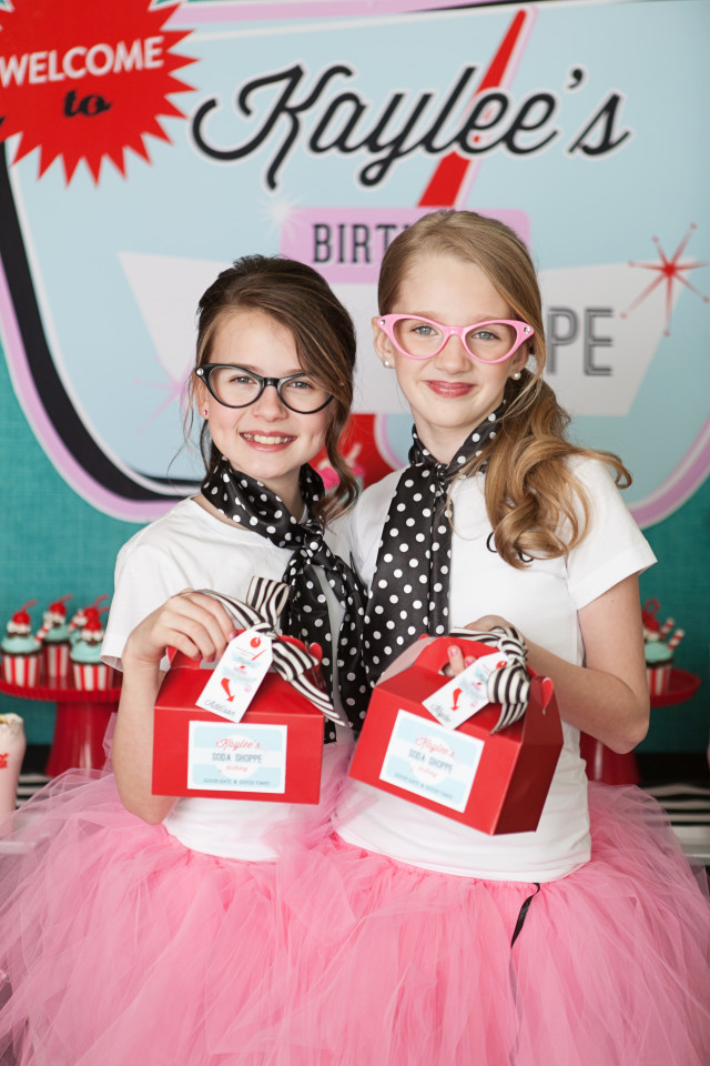 retro soda shoppe party
