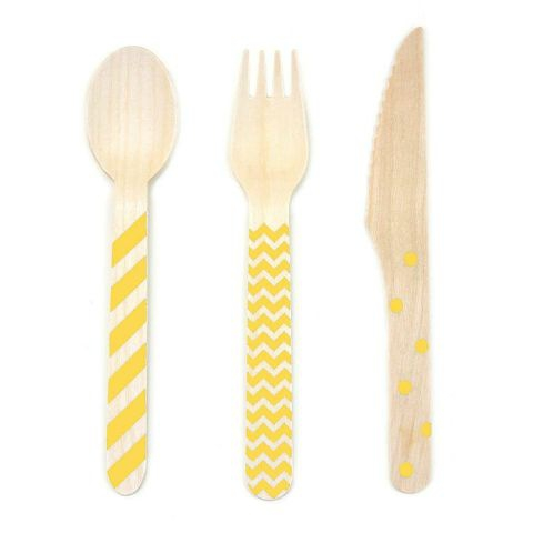 yellow utensils