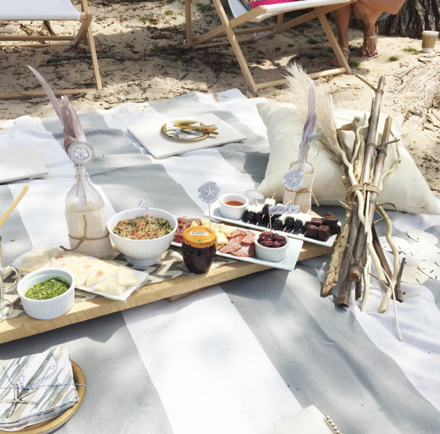 Beach Blanket Date: Ruff Draft: A Simple Beach Party Lake Picnic For