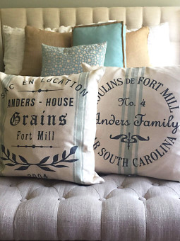 NEW to the shop! (We ship!) Custom Canvas Pillow Covers